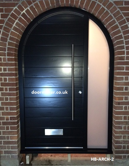 Contemporary Arched Front Doors Oak Iroko And Other Woods