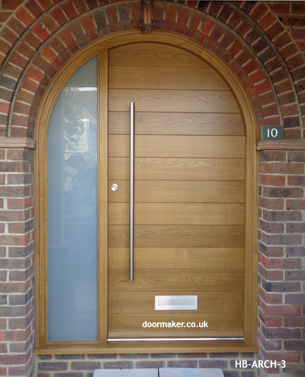 Contemporary Arched Front Doors, oak iroko and other woods ...