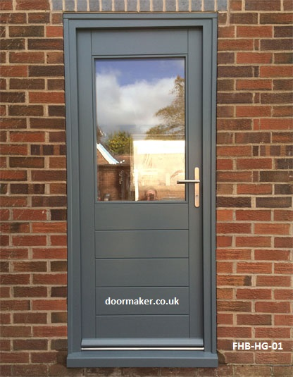 contemporary door half glazed