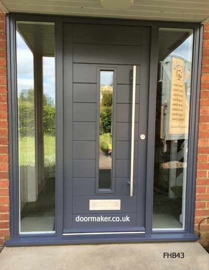 contemporary front doors grey
