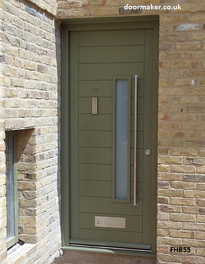 contemporary door factory sprayed reed green ral