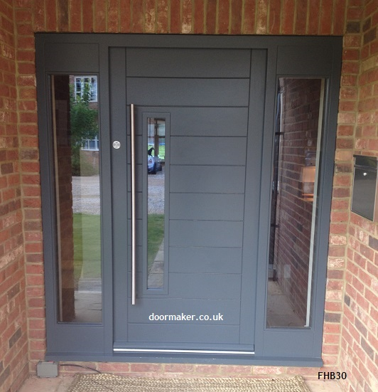 contemporary grey door and frame