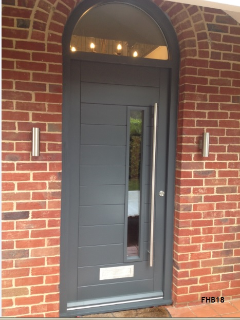contemporary door arched frame