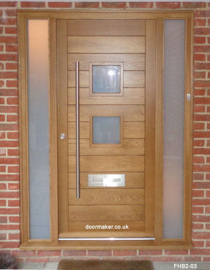 contemporary 2 pane doors