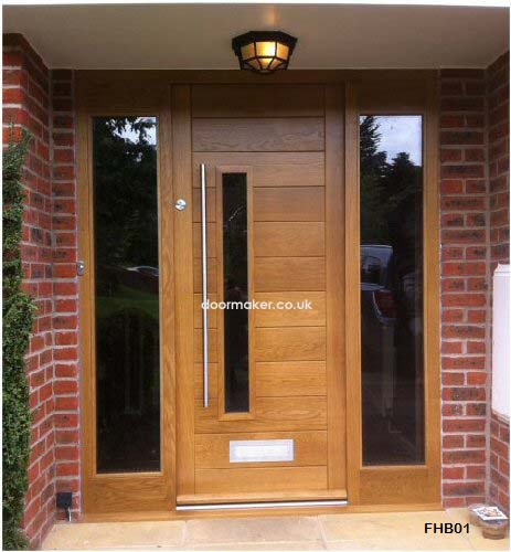 contemporary door two sidelights