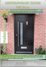 contemporary front door brochure