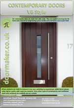 contemporary vertical boarded door brochure