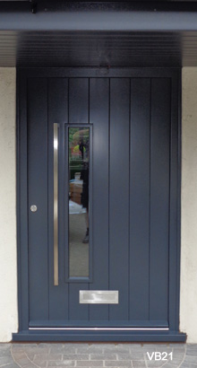 contemporary vertical boarded doors