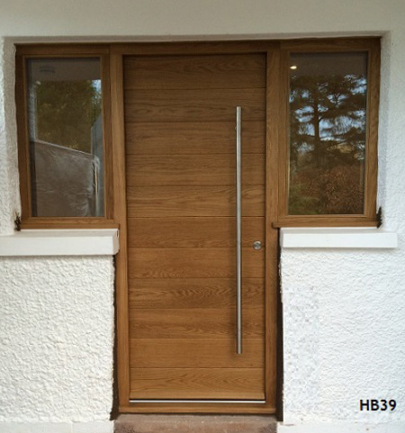 contemporary door windows