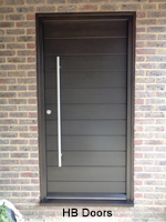contemporary horizontal board doors