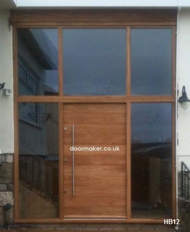 contemporary door glazed toplights and sidelights