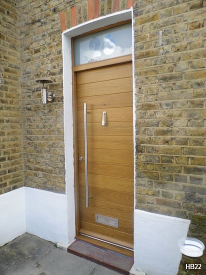 contemporary door hb with toplight